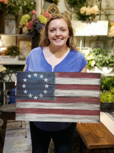 Rustic Flag - Saturday, May 4th at 11 a.m.
