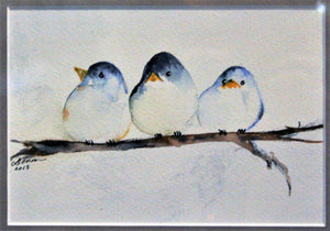 Blue Birds on a Branch Water Color Class