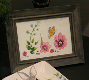 Garden Butterfly & Spring Flowers water color class