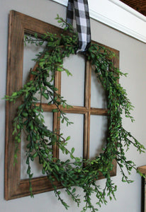 Farmhouse Wreath Window Pane Class, Sunday, January 27th at 1 p.m.