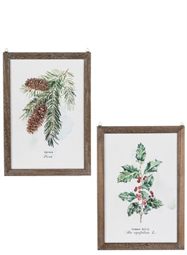Pine Holly Wall Decor