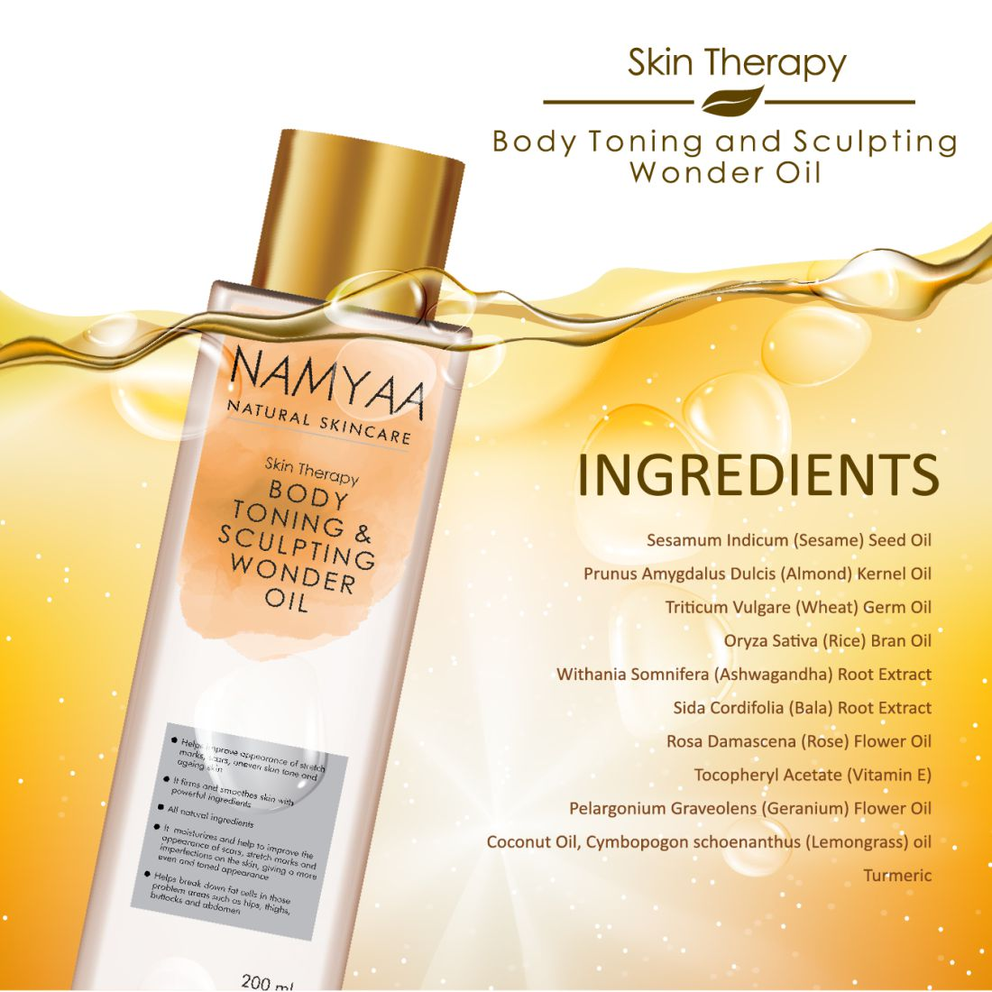 Body Toning & Sculpting Wonder Oil - Namyaa