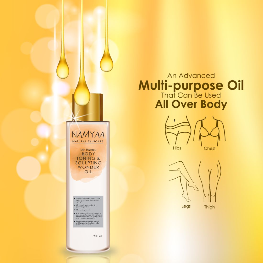 Body Toning and Sculpting Oil