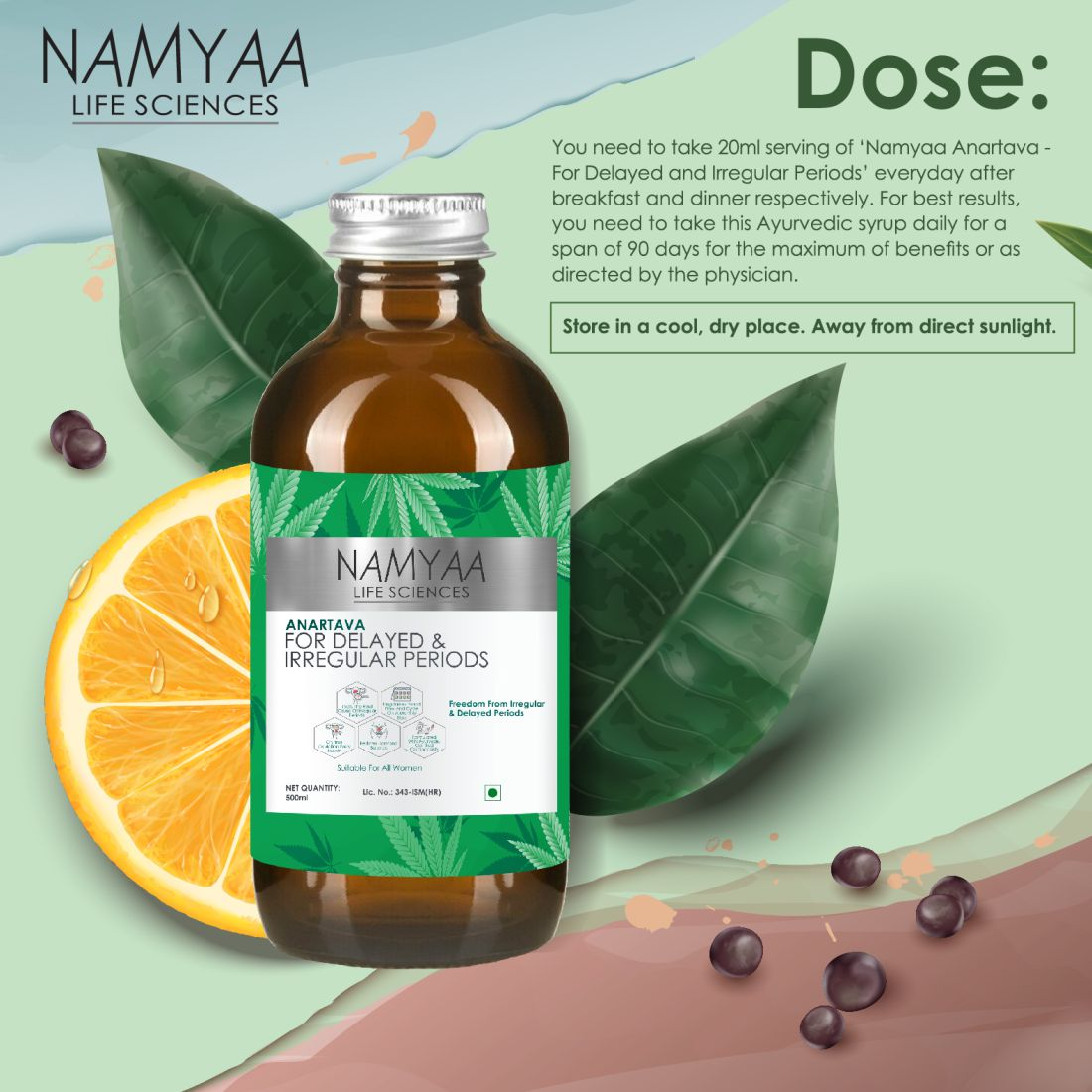 Namyaa Anartava -For Delayed and Irregular Periods 500ml