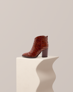 Roxie Croco Ankle Boot