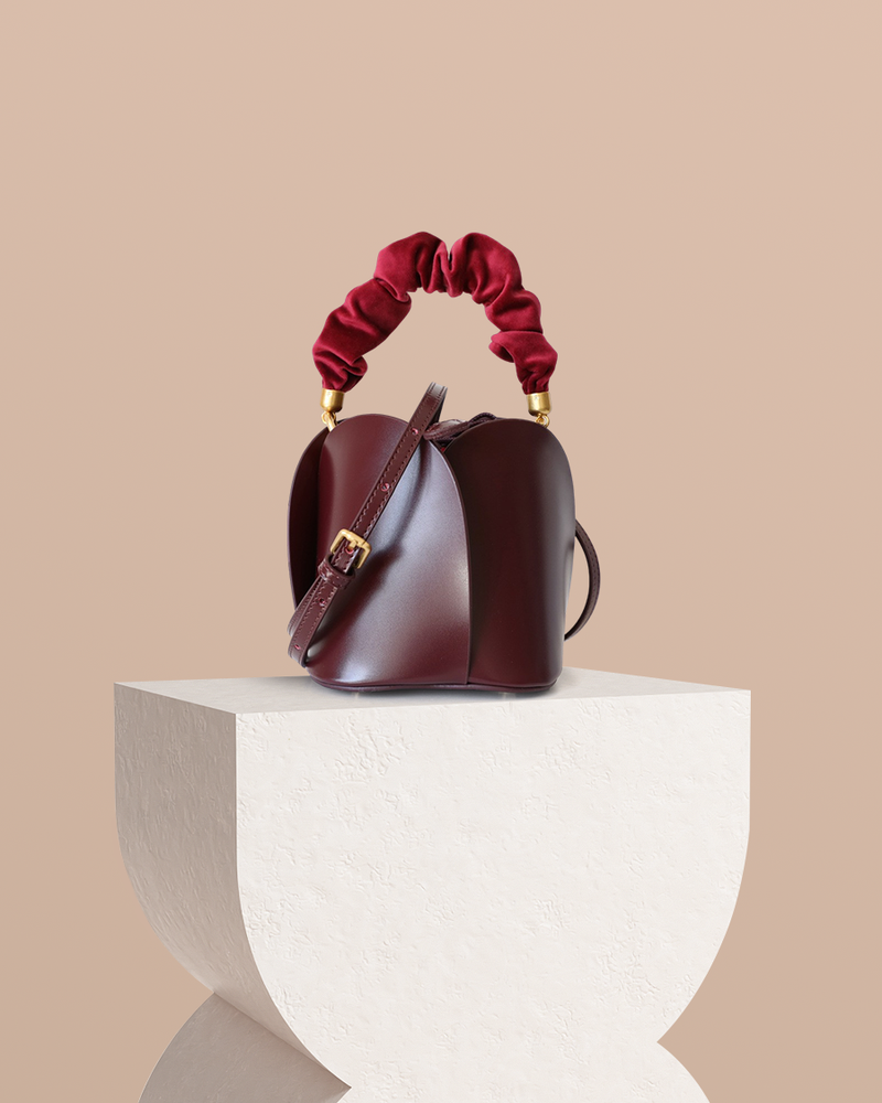 Lotus Leather Bucket Bag
