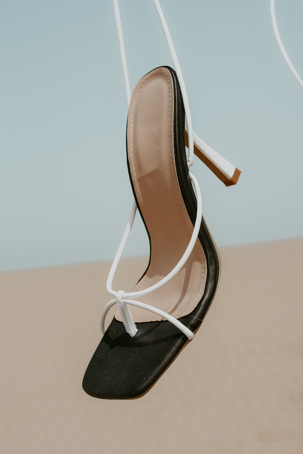 Cleo Heel - Black & White