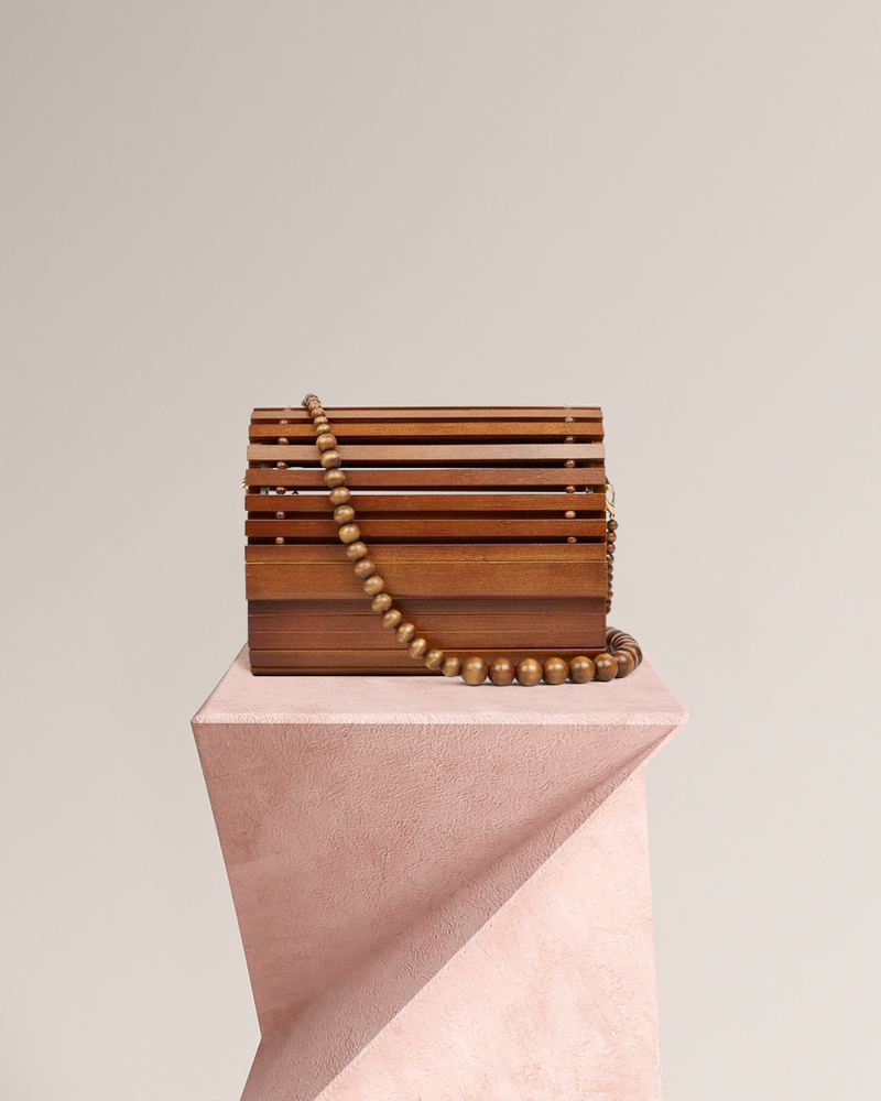 Amelie Bamboo Bag - Chestnut