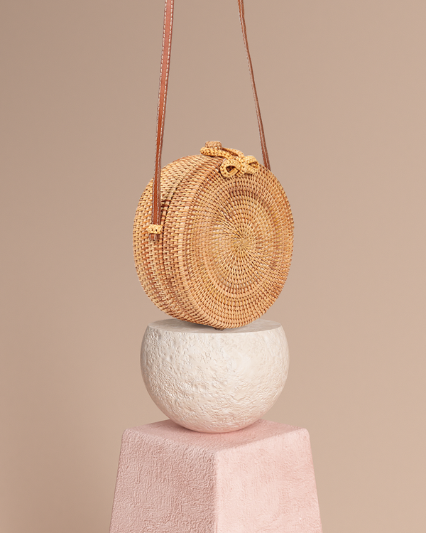 Bali Round Bag - Natural