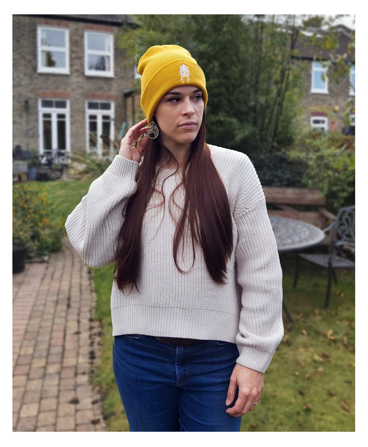 Twisted Squid Logo Yellow Beanie