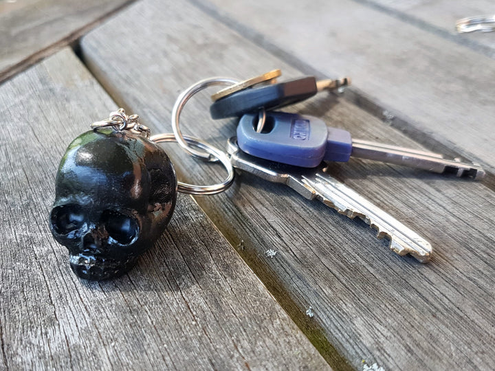 Black Skull Keyring - Twisted Squid