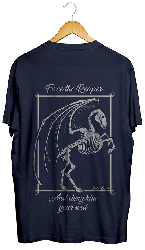 Face the Reaper Back Print Navy
