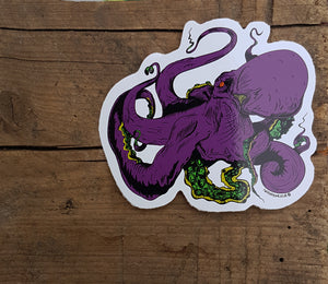 Octopus Sticker - Twisted Squid