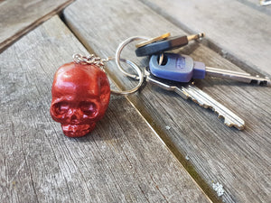 Red Skull Keyring - Twisted Squid