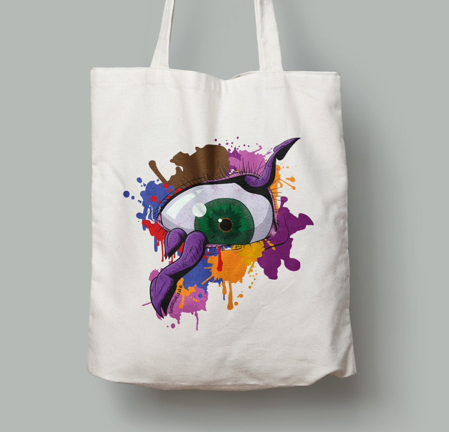 Something in my Eye Canvas Tote - Twisted Squid