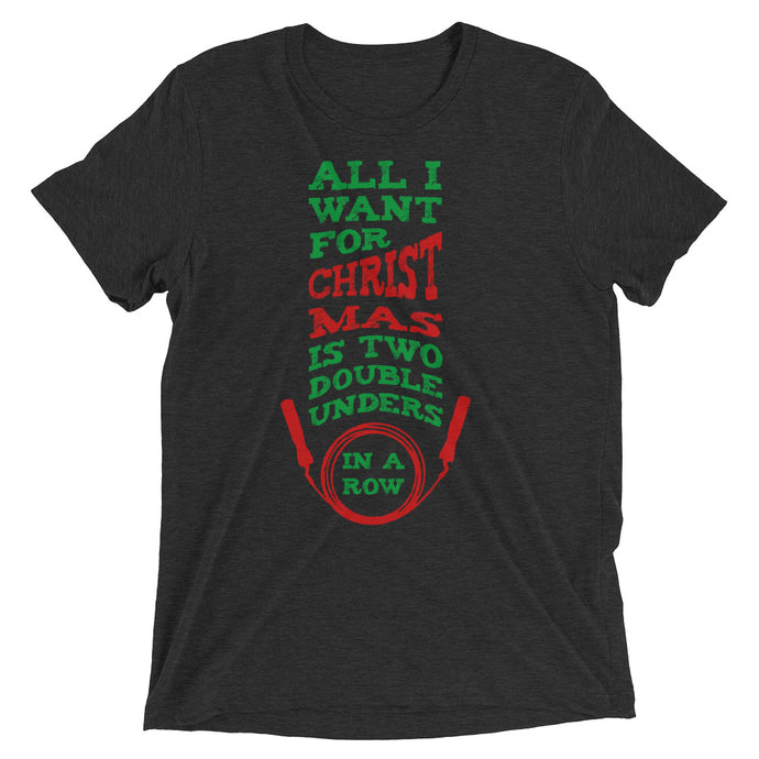 Double Unders Green/Red Unisex Performance Tee