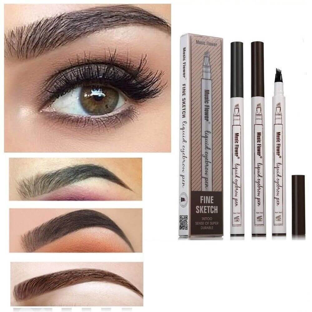 Waterproof Microblading Eyebrow Pen (BUY 1 TAKE 2) With Free April Skin  Cushion Foundation