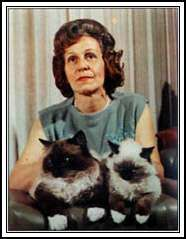 Ann Baker, primary originator of the ragdoll breed.