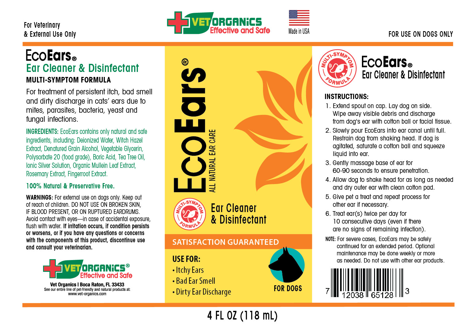 ecoears-dogs-4oz-product-label