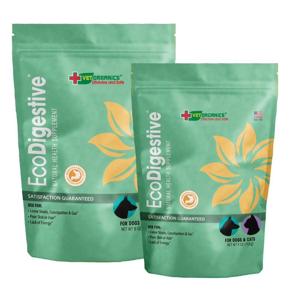 EcoDigestive™ Probiotic & Enzyme Support Formula for Dogs & Cats, 4-oz or 8-oz bag