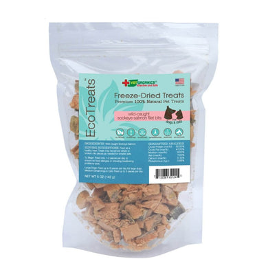 EcoTreats™  Wild-Caught Sockeye Salmon Filet Bits Freeze-Dried Cat & Dog Treats, 5-oz bag