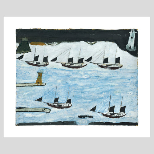 Art Angels Publishing Alfred Wallis Five Ships Greetings Card (AD1883) 1