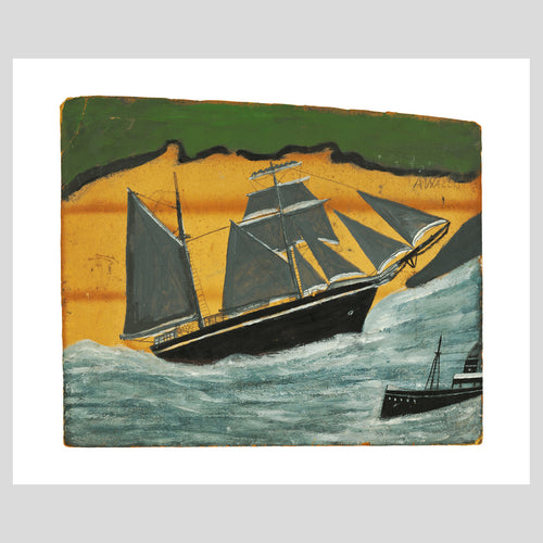 Art Angels Publishing Alfred Wallis Sailing Ship Greetings Card (AD1935) 1