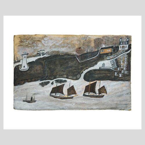 Art Angels Publishing Alfred Wallis Two Ships and Steamer Greetings Card (AD1884) 1