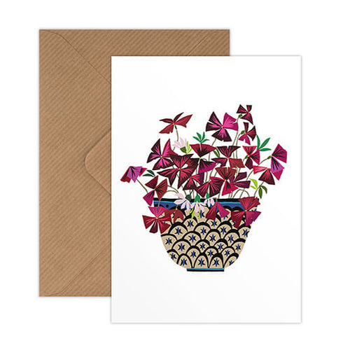 Brie Harrison Brie Harrison Oxalis Greetings Card 1
