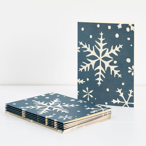 Cambridge Imprint Cambridge Imprint Snowflake Greetings Cards Pack of 10 1