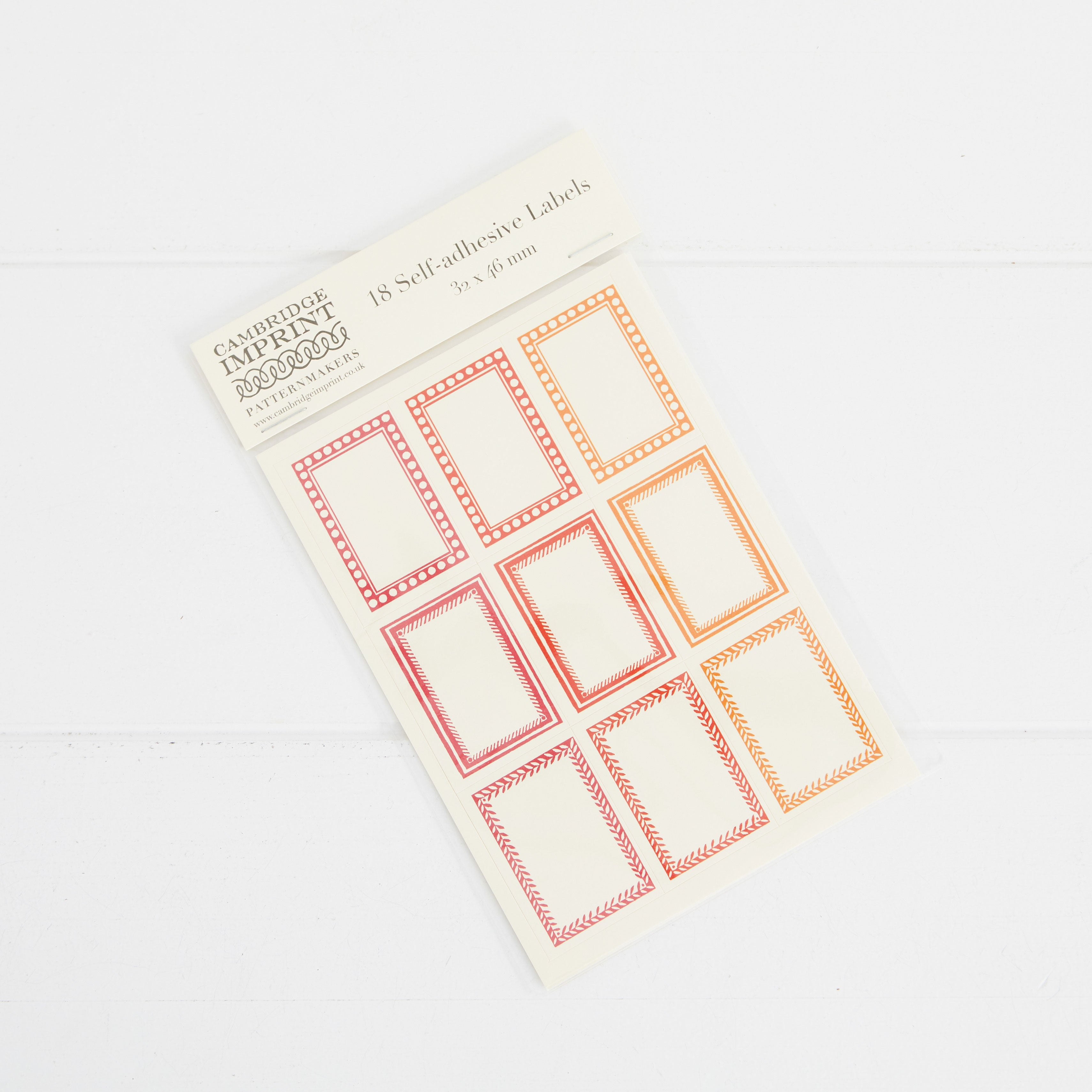 Cambridge Imprint Pack of 18 Small Self-Adhesive Labels 2