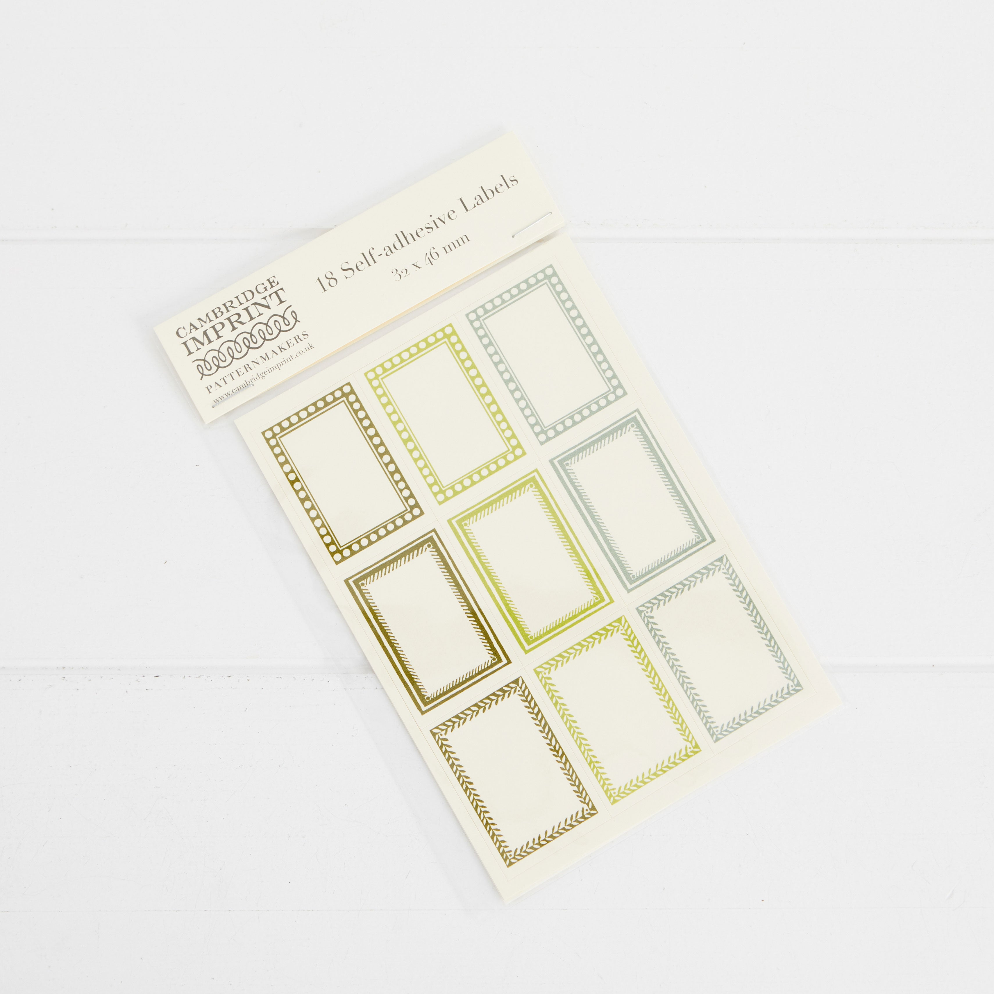 Cambridge Imprint Pack of 18 Small Self-Adhesive Labels 3