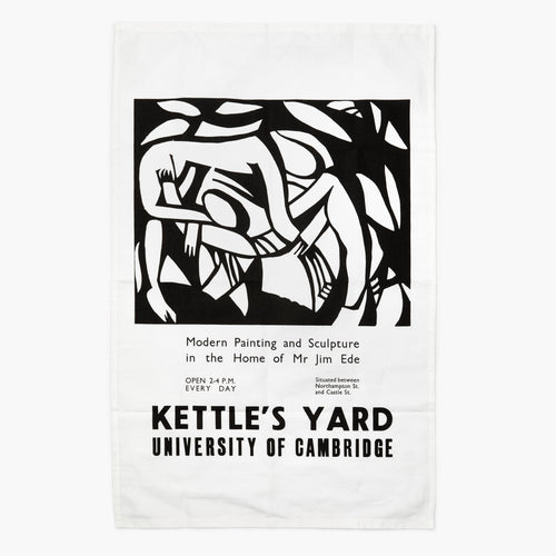 Countryside Art Kettle's Yard 'Wrestlers' Vintage Poster Tea towel 1