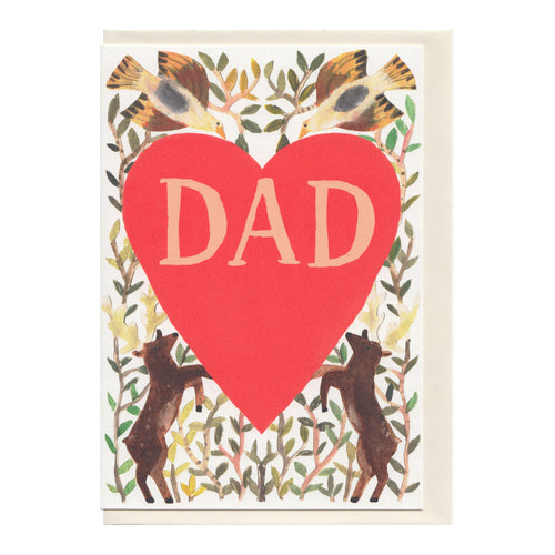 Hadley Paper Goods Hadley Dad Heart Greetings Card 1