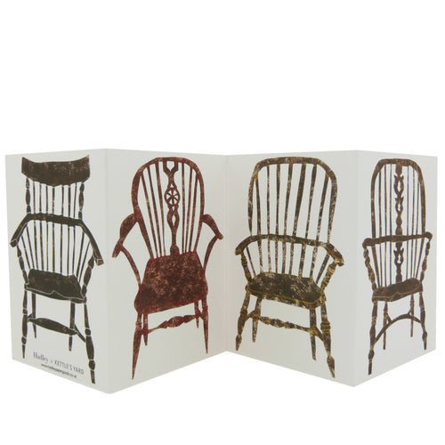 Hadley Paper Goods Hadley x Kettle's Yard Chairs Folding Greetings Card 2