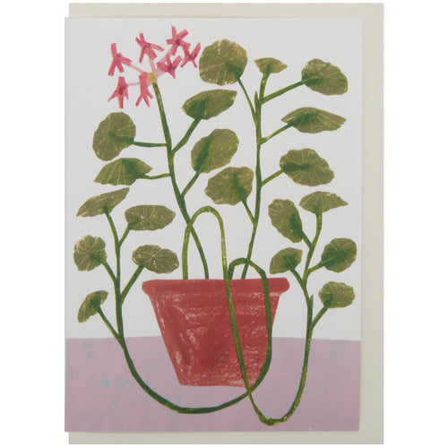 Hadley Paper Goods Hadley x Kettle's Yard Geranium Greetings Card 1