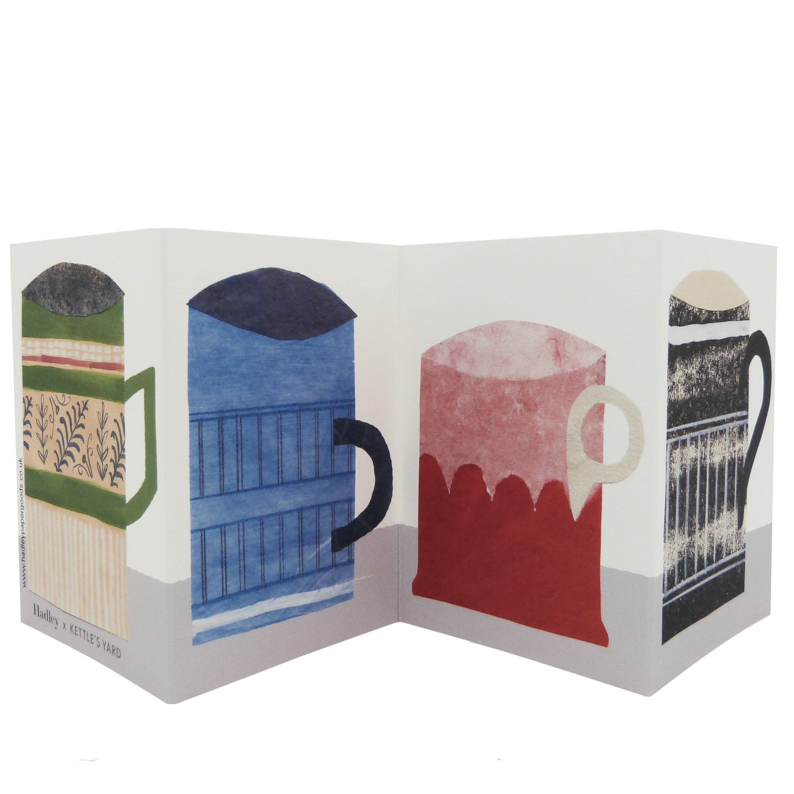 Hadley Paper Goods Hadley x Kettle's Yard Mugs Folding Greetings Card 2