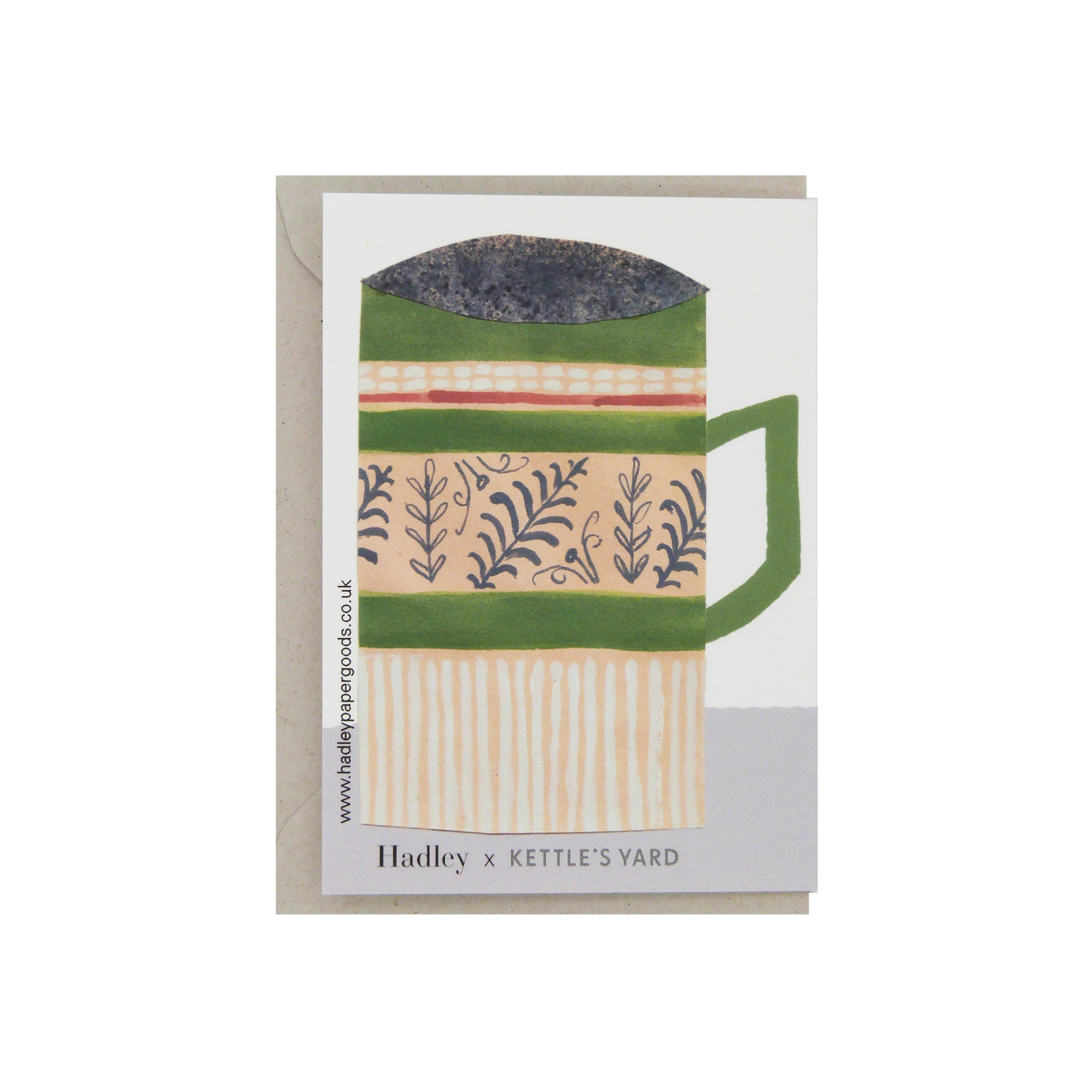 Hadley Paper Goods Hadley x Kettle's Yard Mugs Folding Greetings Card 3