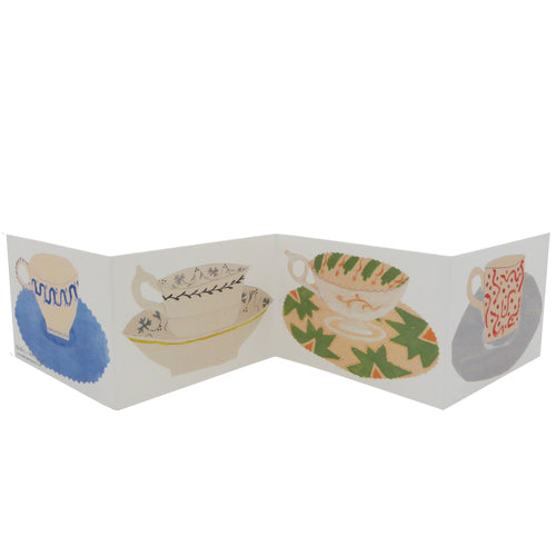Hadley Paper Goods Hadley x Kettle's Yard Teacups Folding Greetings Card 1