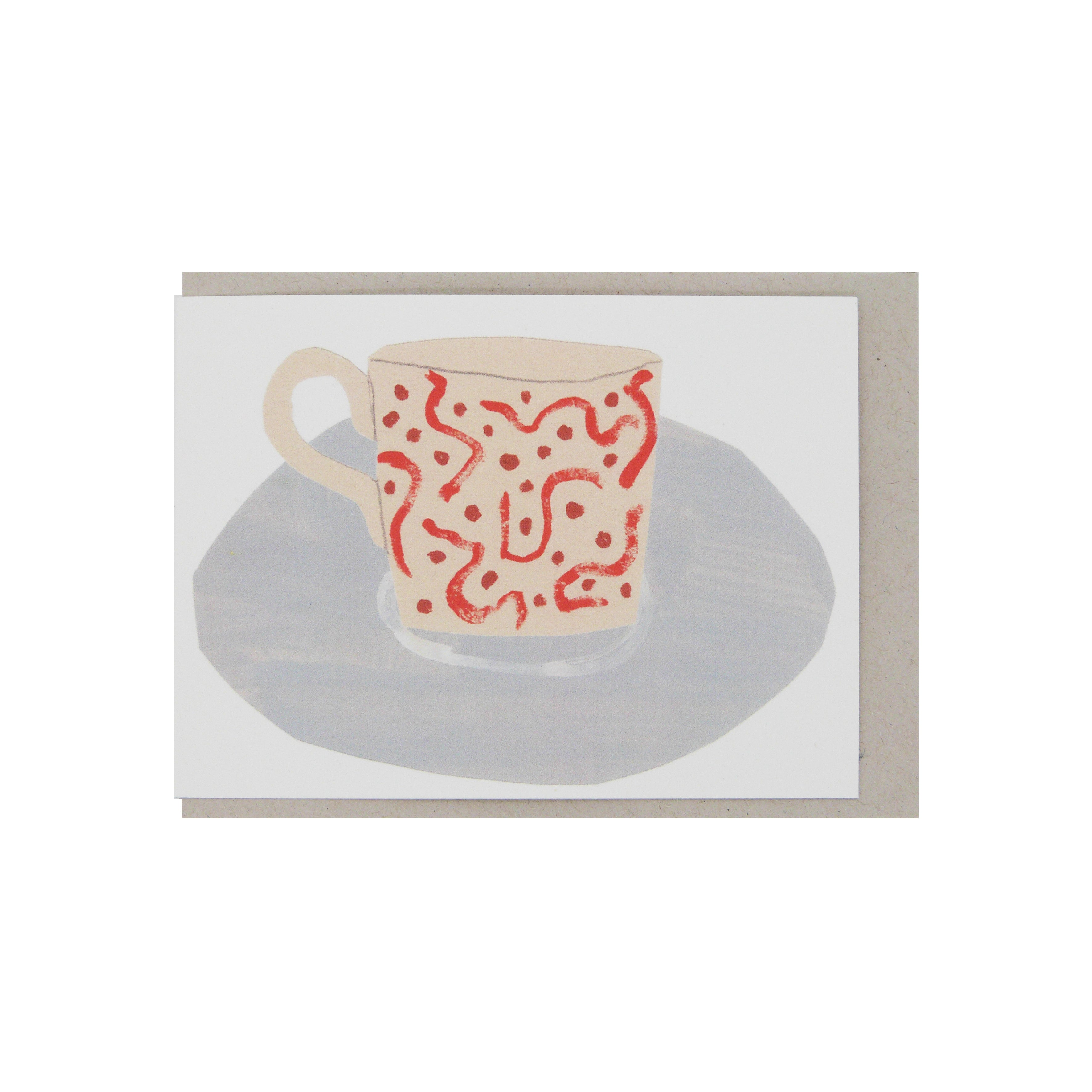 Hadley Paper Goods Hadley x Kettle's Yard Teacups Folding Greetings Card 2