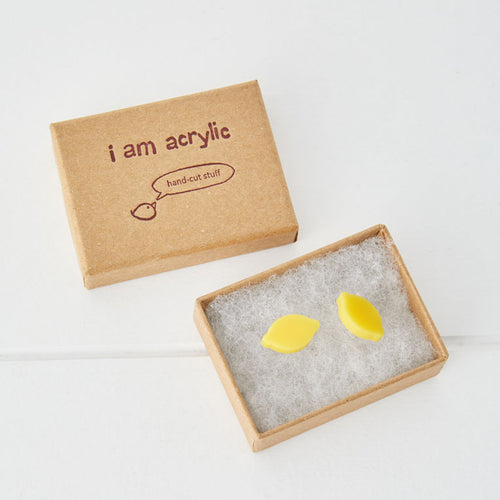 I am Acrylic I Am Acrylic Lemon Stud Earrings 2
