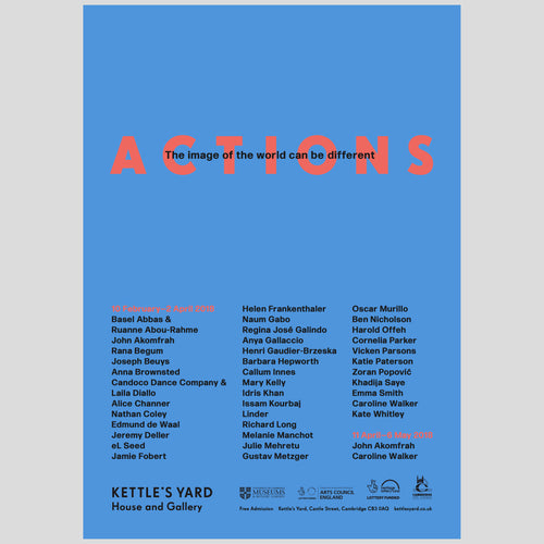 Kettles Yard ACTIONS A3 Exhibition Poster 1