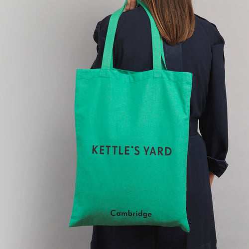Kettles Yard Kettle's Yard Green Logo Tote Bag 1