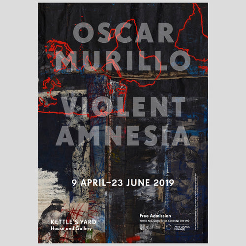 Kettles Yard Oscar Murillo Violent Amnesia A3 Exhibition Poster 1