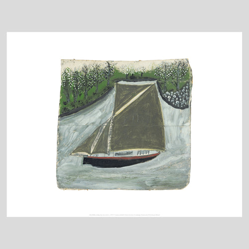 King and McGaw Alfred Wallis Sailing Ship & Orchard Unframed Mini Print 1