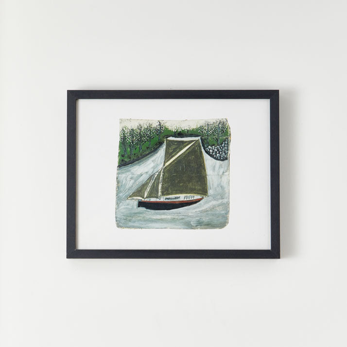 King and McGaw Alfred Wallis Sailing Ship & Orchard Unframed Mini Print 2