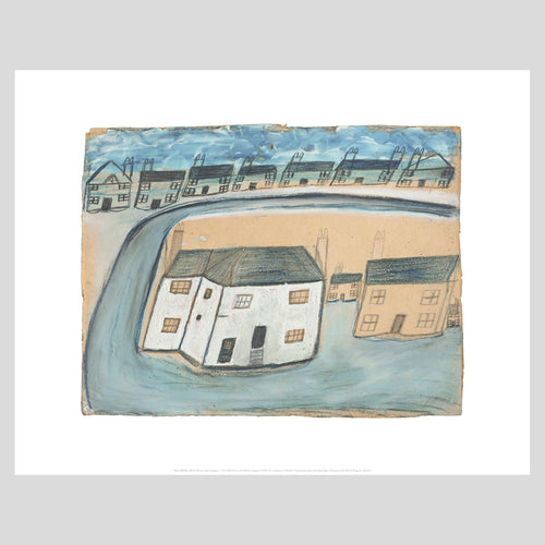 King and McGaw Alfred Wallis White Cottages Unframed Mini Print 1