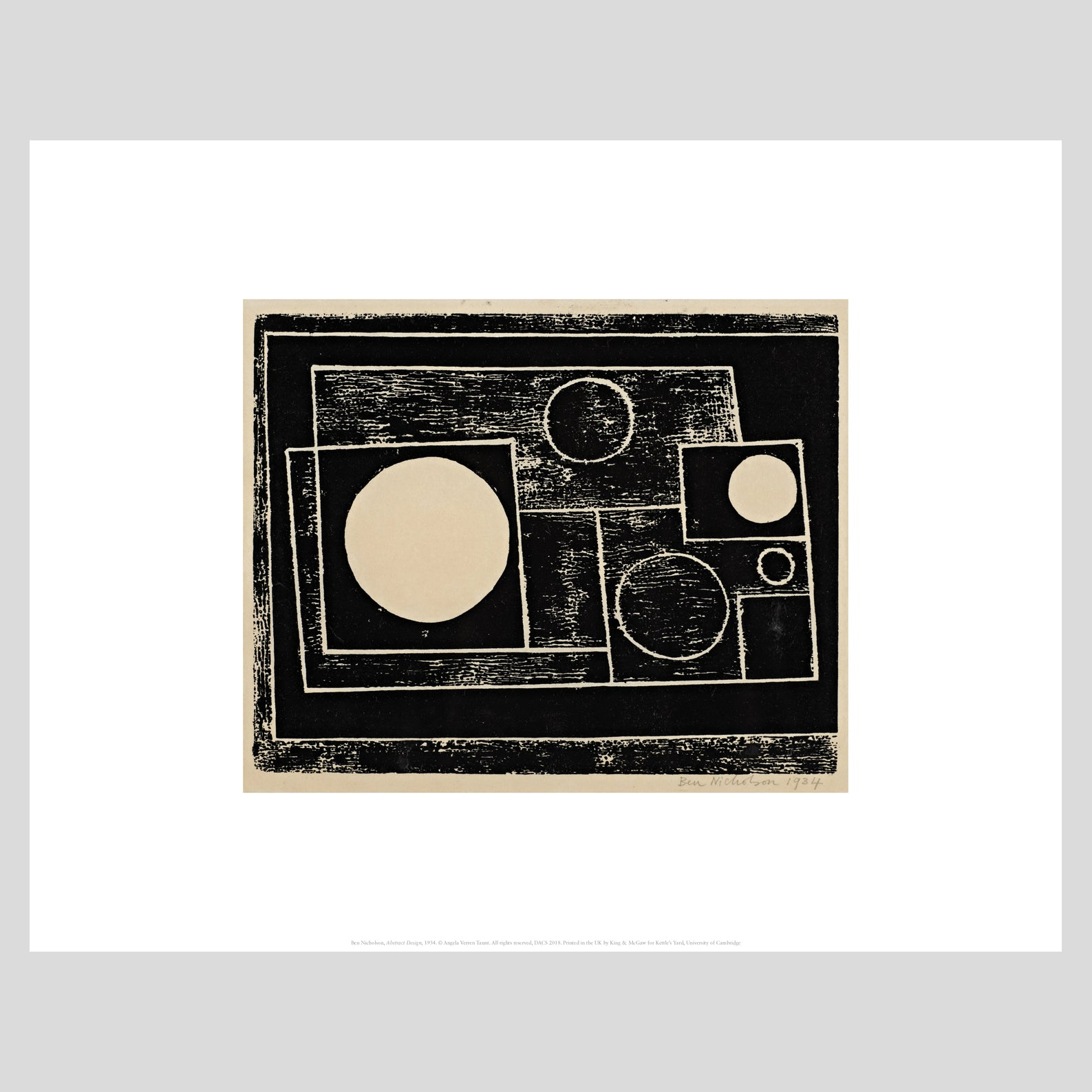 King and McGaw Ben Nicholson Abstract Design 1934 Unframed Mini Print 1