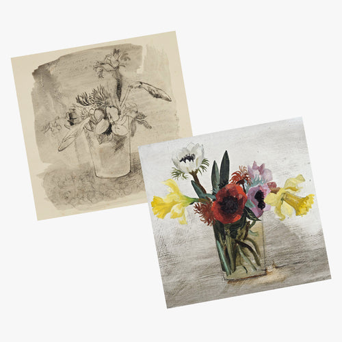 King and McGaw Christopher Wood Flowers Greetings Cards Set of 8 2
