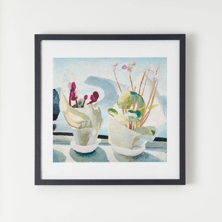 King and McGaw Winifred Nicholson Cyclamen & Primula Square Unframed Print 2